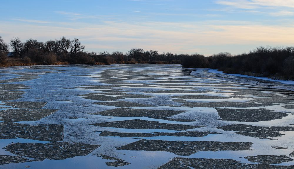 Photo in Nature #river #ice #cold #freezing #winter #outdoors #water