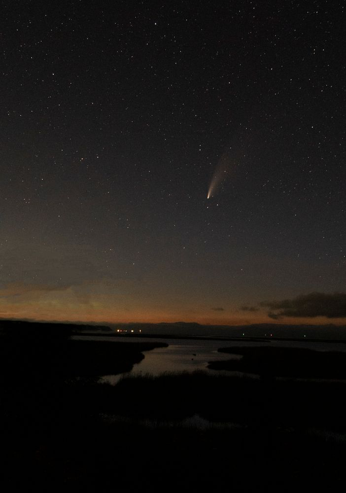 Photo in Astrophotography #comet #neowise #eagle sanctuary #astrophotography #columbia river