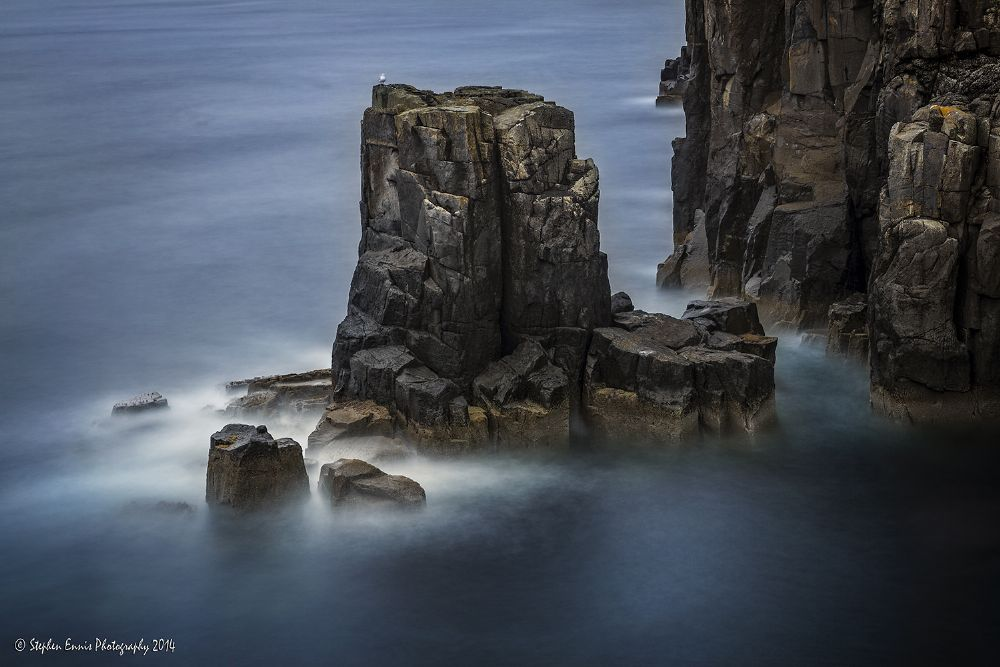 Photo in Sea and Sand #stephen ennis photography #long exposure #canon #isle of skye #scotland #seascape #rocks