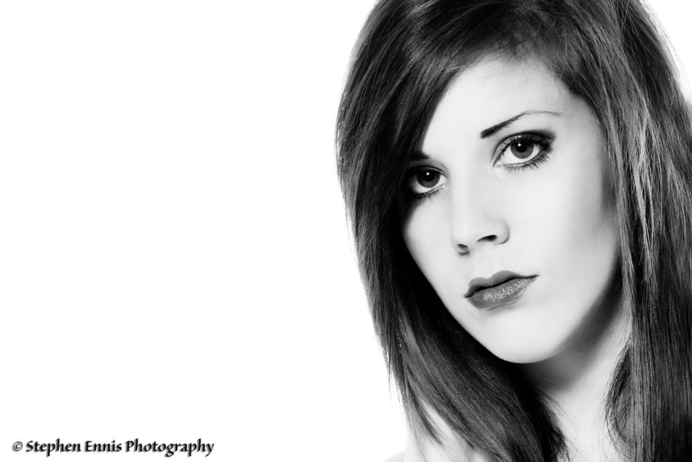 Photo in Portrait #stephen ennis photography #model #female #portrait #black & white #studio #beauty #fashion #glamour