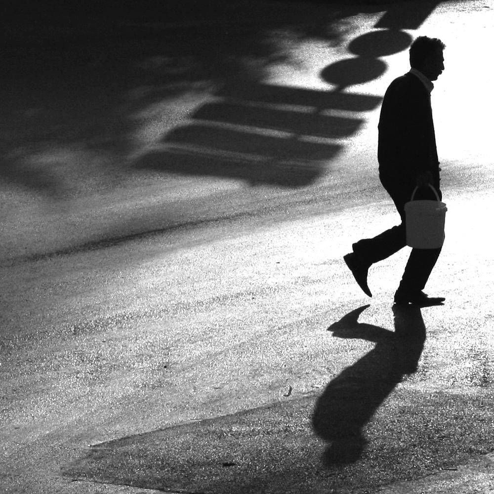 Photo in Black and White #street #fussy #man #people
