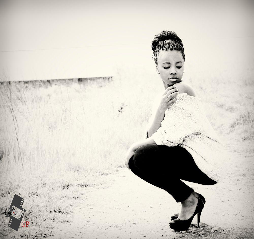 Photo in People #photoshoot #model #shoulder #heels #sepia #monocromatic #skin