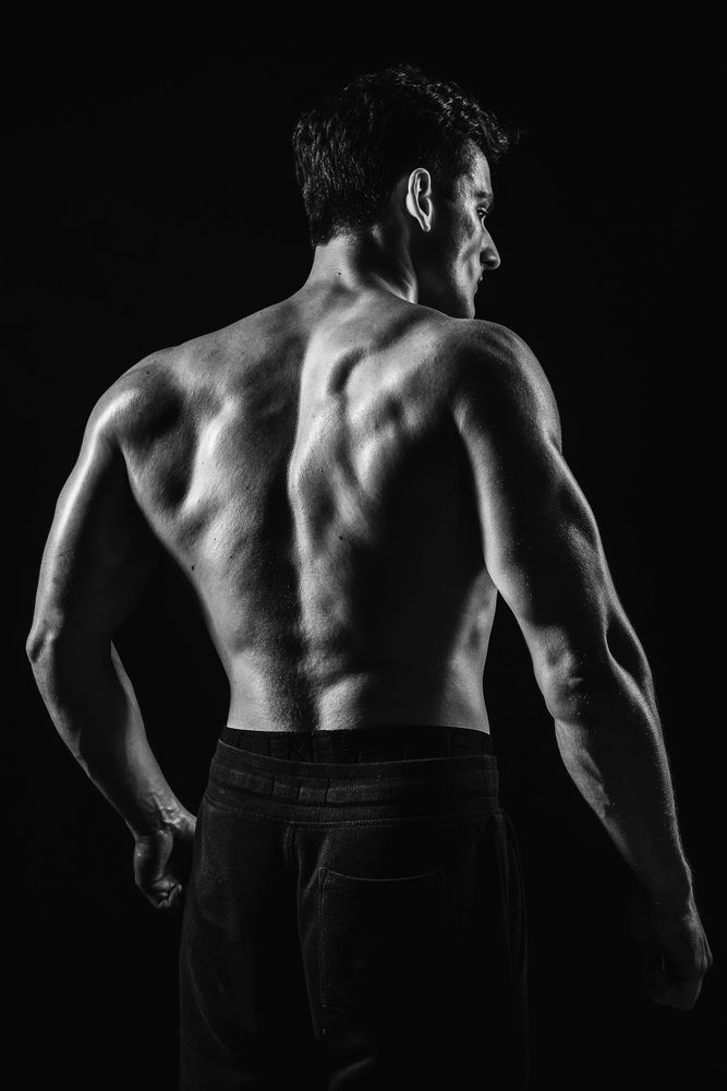 Photo in Portrait #male #model #fitness #muscles #body #black and white #sport