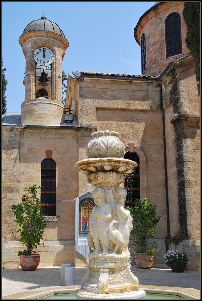 Photo in Architecture #orthodox church #court #kfar kana #galilee