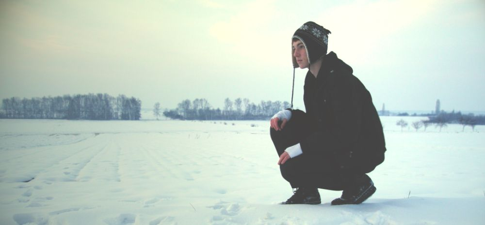 Photo in People #winter #cold #boy #man #guy #model #nature #snow #white #black #sky #forest