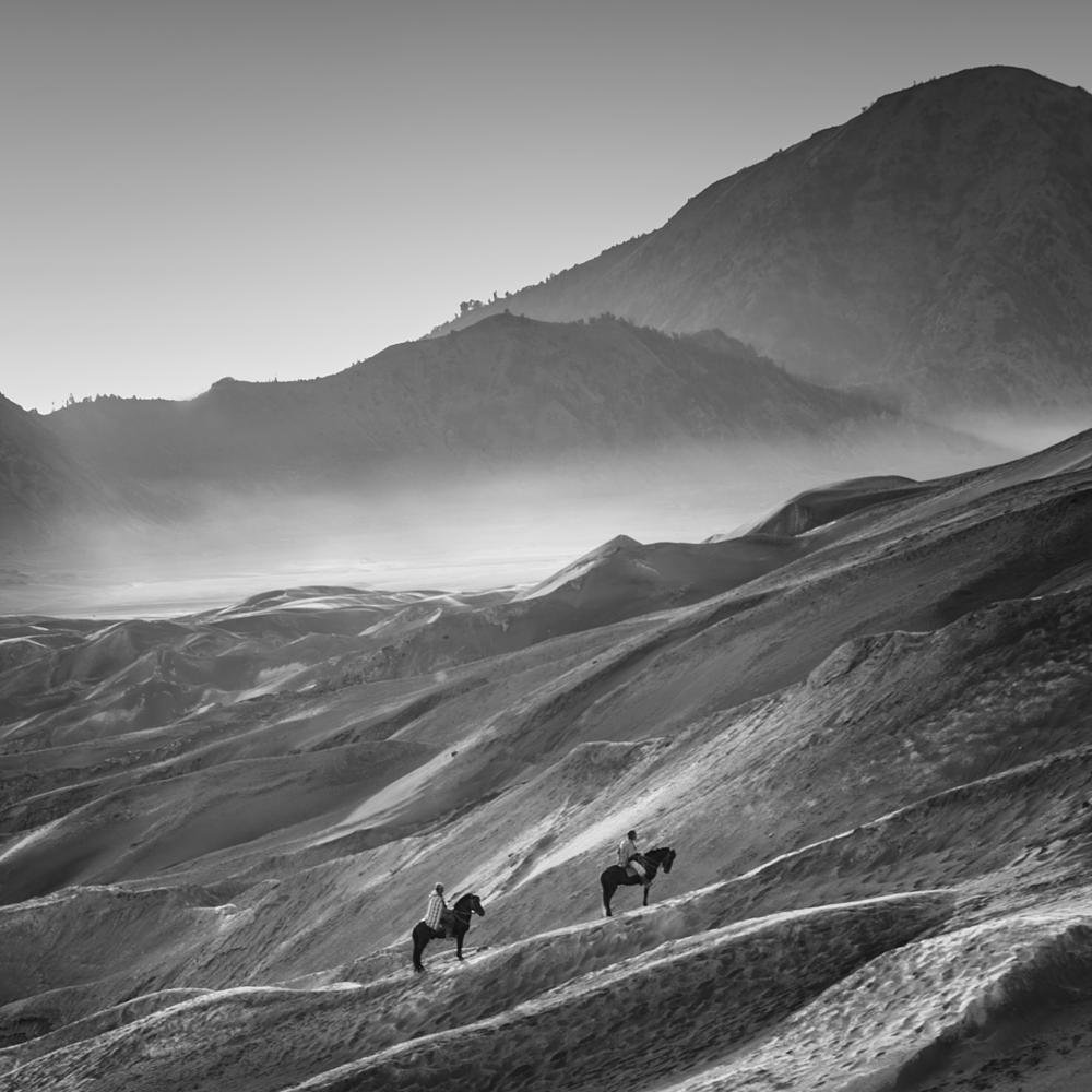 Photo in Black and White #bromo #mountain #landscape #nature #black and white