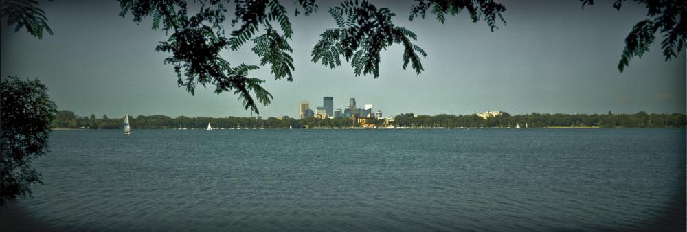 Photo in Cityscape #lake #city #sun #sunset