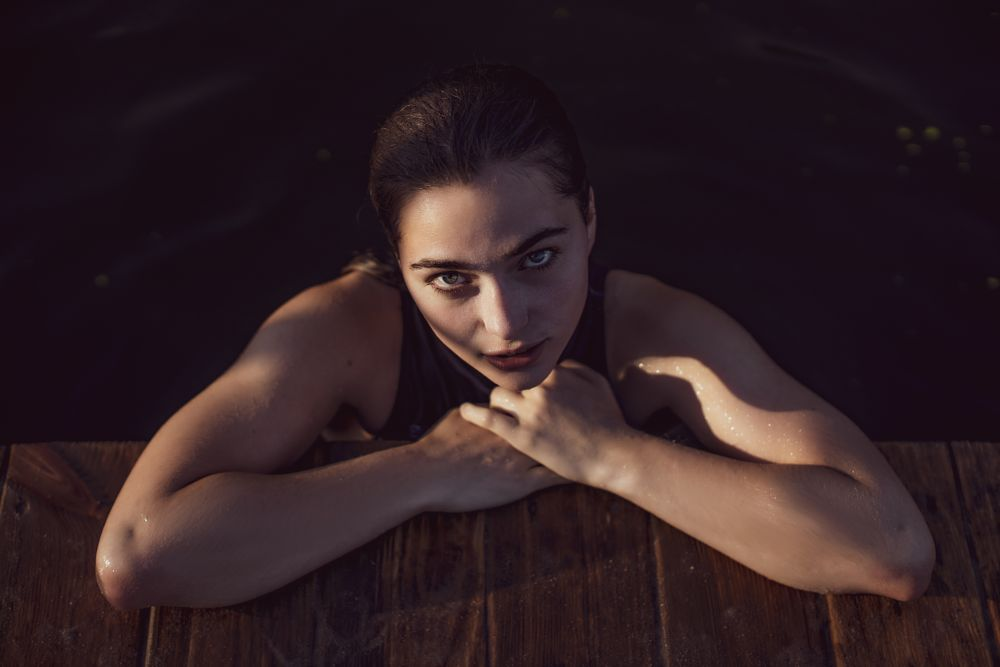 Photo in Portrait #looking into camera #portrait #girl #water #river #summer