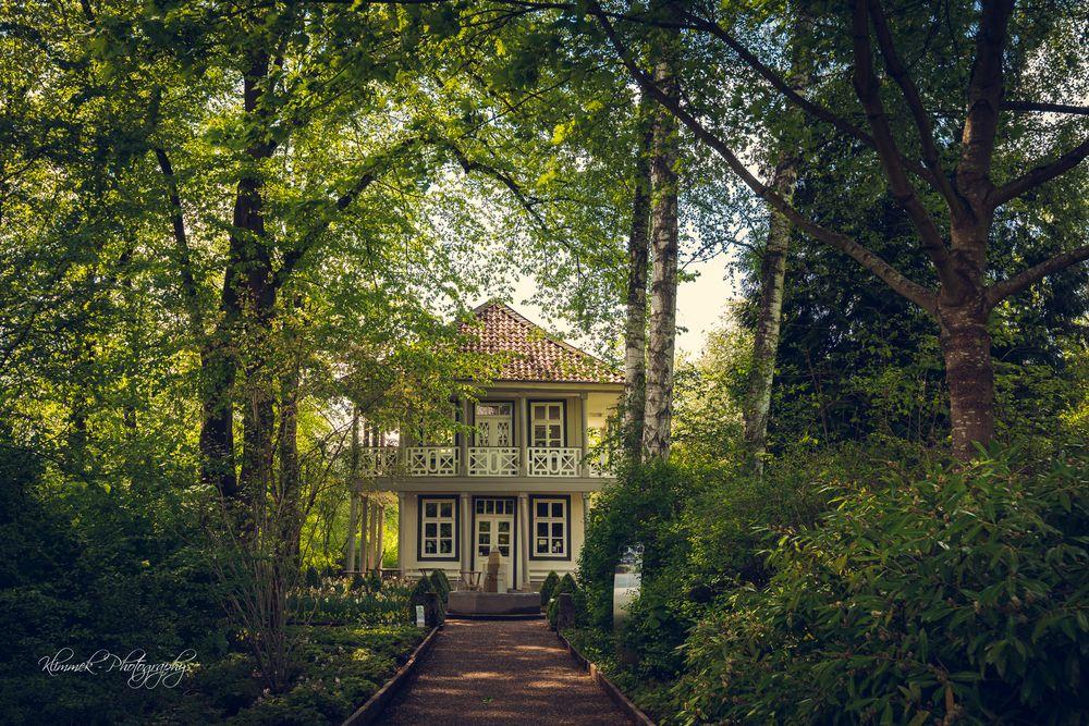 Photo in Landscape #parc #tea #teahouse #house #wood #woodenhouse #landscape #landscapephoto #spring #sun #sunandclouds #clouds