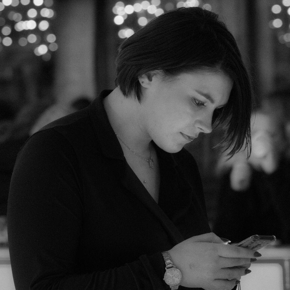 Photo in People #girl #phone #b&w #bokeh