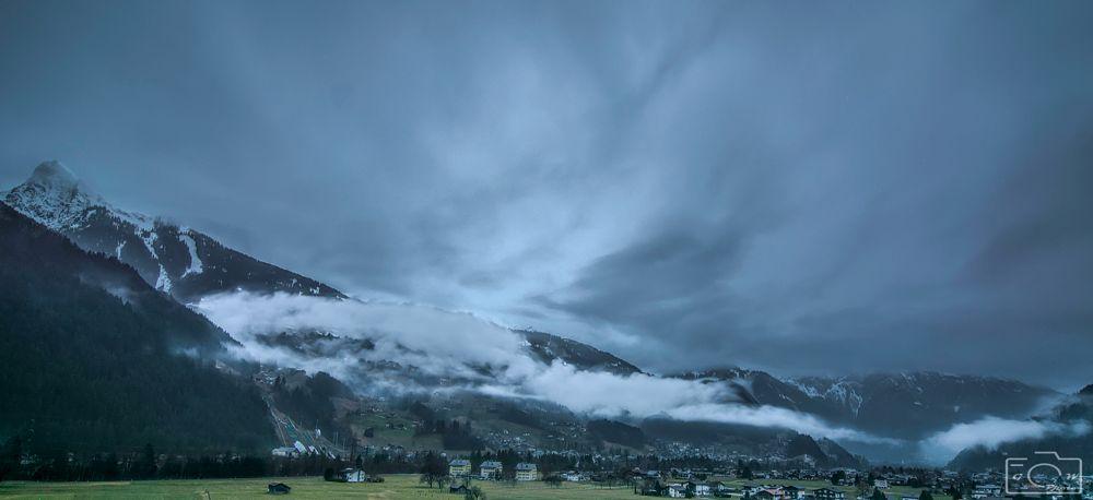 Photo in Landscape #nikon #tokina #nature #landscape #clouds #mountains #snow #wood #rain