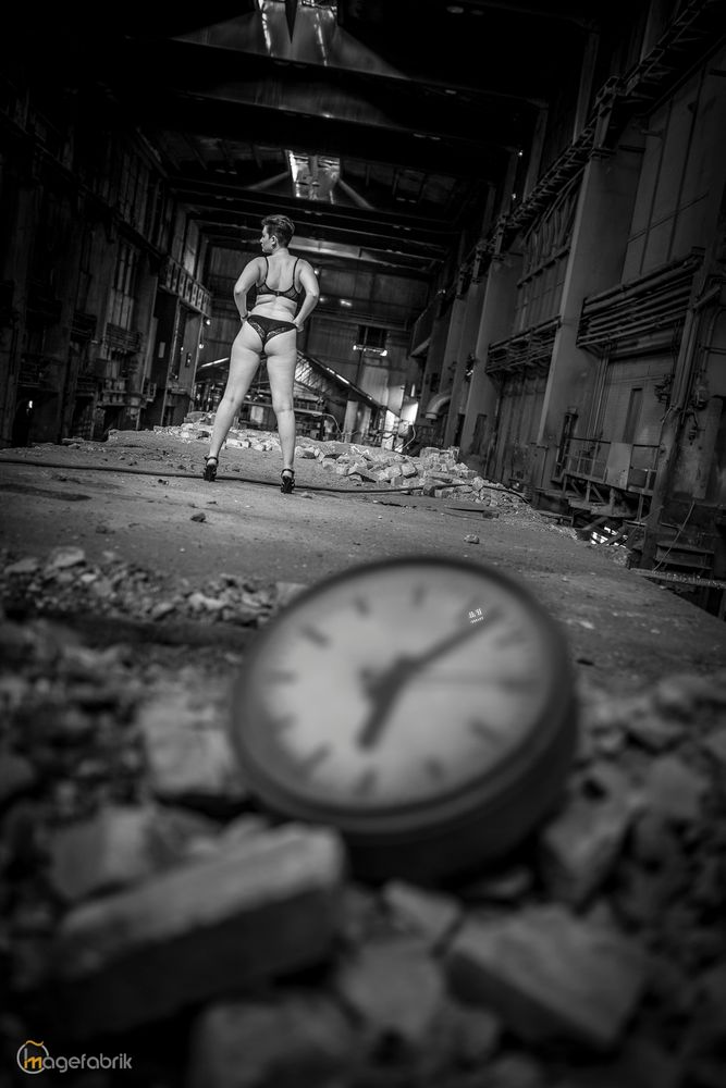 Photo in People with model Chrissie  #girl #woman #female #dessous #sexy #hot #lingerie #lostplace #girlinlostplace #chrissiem #bnw #blackandwhite