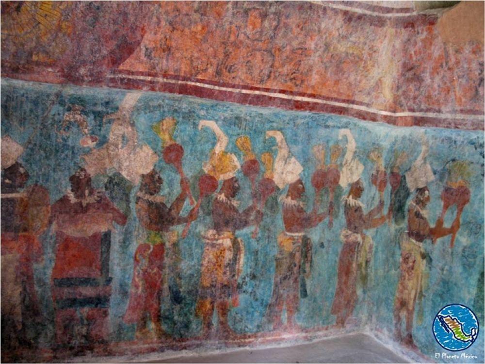 Photo in Travel #murals. #bonampak #paintings #chiapas #mexico #maya