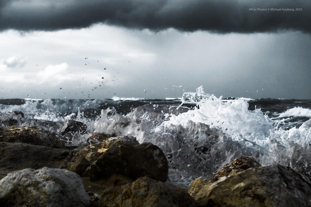 Photo in Landscape #dramatic #sea #seascape #clouds #layers #rocks #white #blue #black #grey #waves #weather