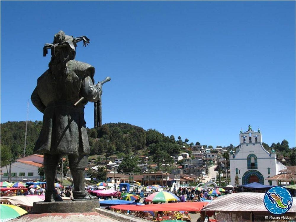 Photo in Travel #chamula #church #syncretism #chiapas #mexico #sculpture #atrium