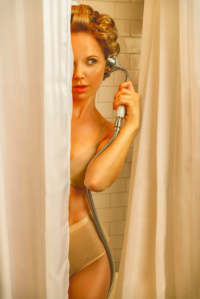 Photo in Vintage #fifties #50s #retro #vintage #phone #telephone #shower #shower head #speaking #answering #curtain #hairstyle #style #look #face #portrait #woman #girl #young #adult #person #model #beauty #curls #curlers #beautiful #pretty #attractive #hair #blonde #lingerie #underwear #outfit #panties #bra #girly #body #silhouette #lady #curves #female #concept #smile #eyes #talking #panty #beige #fashion #sensual #glamour #photo #photography #mood