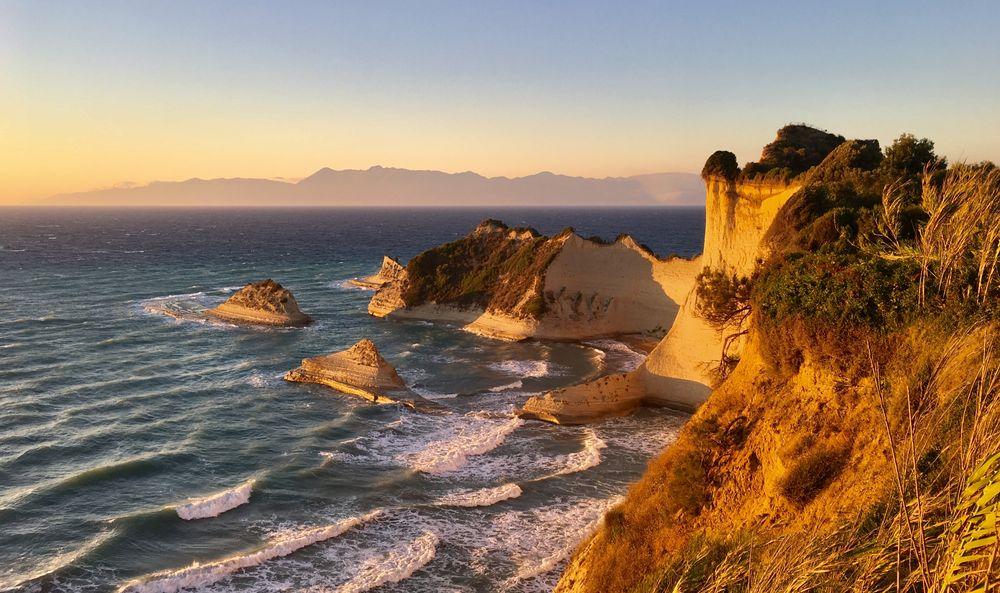 Photo in Landscape #nature #sea #cape #coast #greece #summer #holiday #sunset