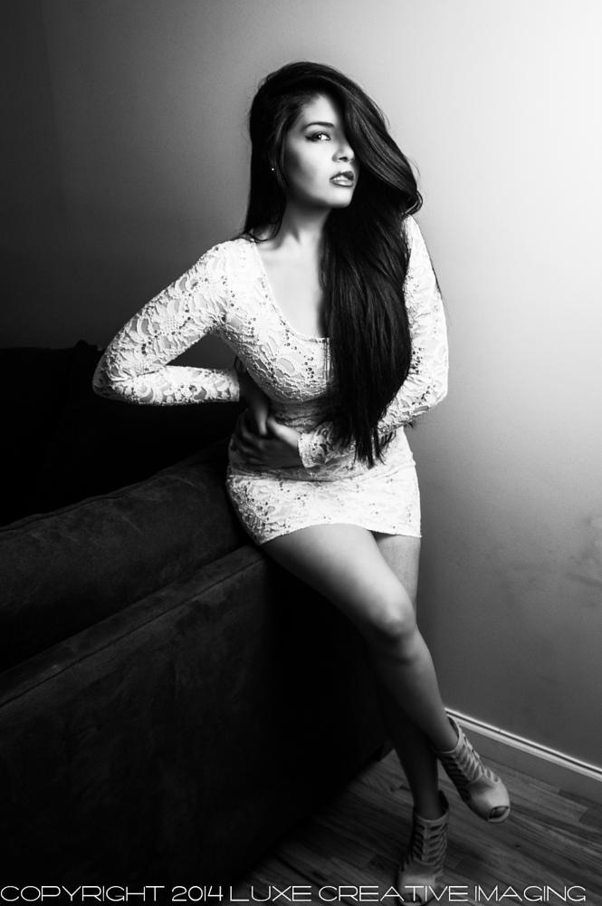 Photo in Portrait #black & white #portrait #latina #model