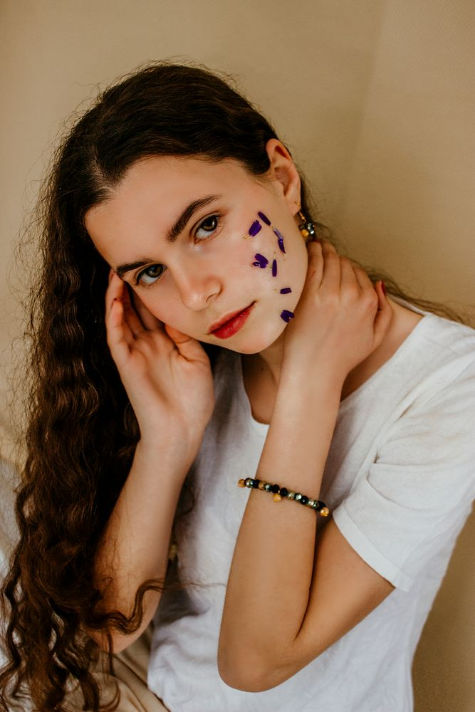 Photo in Fine Art with model Hiba Ben Mhenni #model #mood #beauty #beautiful #girl #hazel #long hair #makup #sexy #attractive #teenager #teen portrait #fashion #fine art