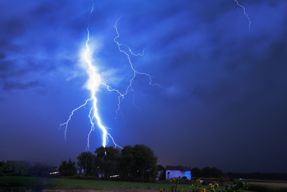 Photo in Nature #lightning #storm #nature #weather