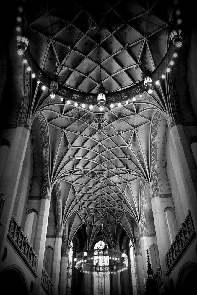Photo in Random #wittenberg #b/w #schwarz/weiß #germany #church #crkva #kirche