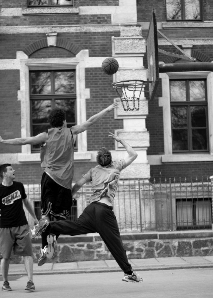 Photo in Sports #streetball #leipzig #germany #alexandraksz #sports #sport #b/w #scharz/weiß #black/white