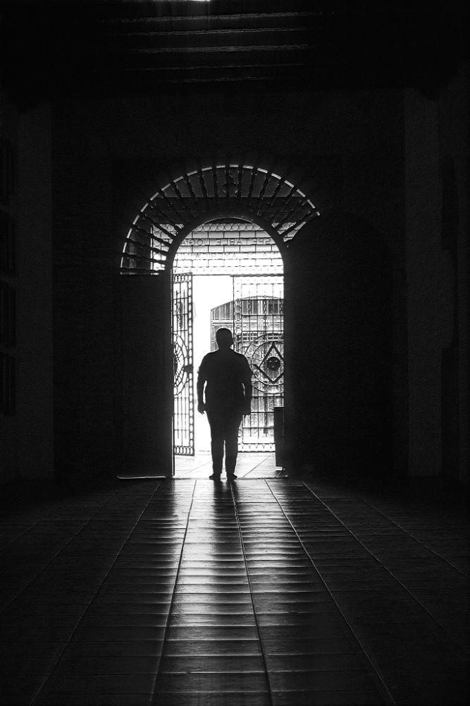 Photo in Interior #lights #shadows #b&w #people #arc #architecture #interior #masonic #lodge