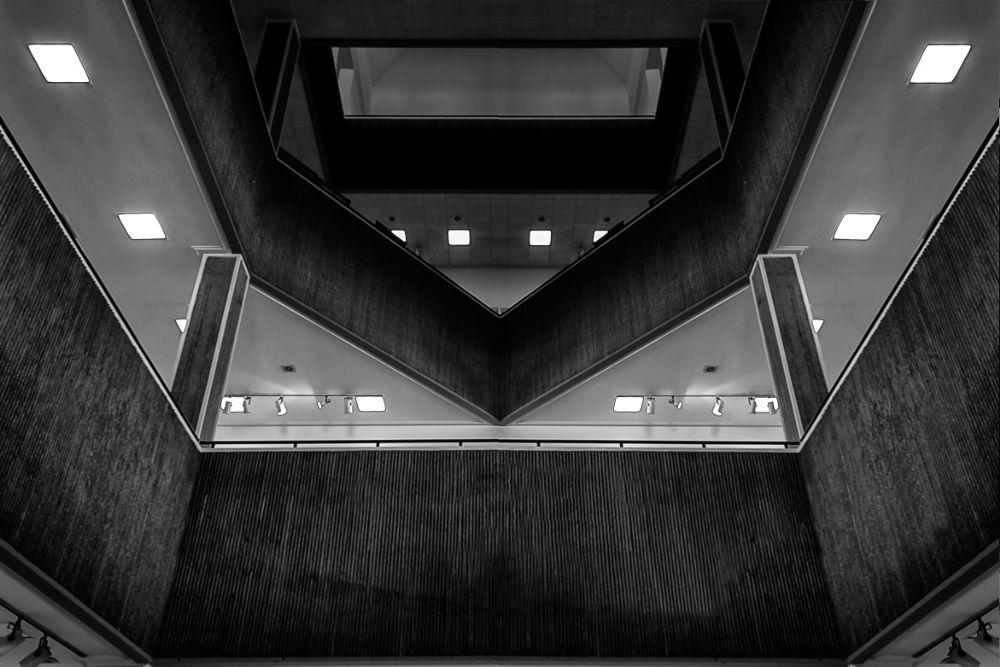 Photo in Interior #museum #modern #arts #interior #architecture #b&w #series