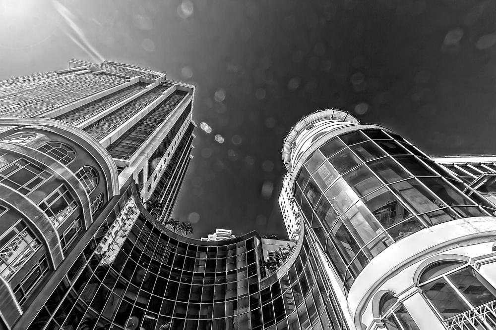 Photo in Cityscape #skyscrapers #builldings #cityscape #architecture #b&w
