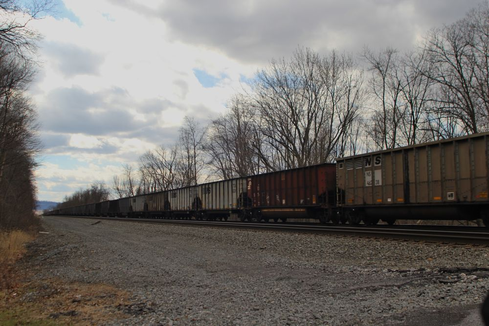 Photo in Random #train #railroad #cars #tracks #sky