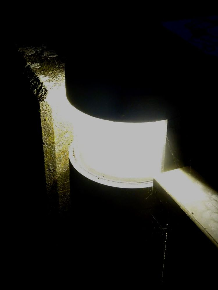 Photo in Abstract #light #lampe #no people #outdoor #wasser #spinncewebe #modern #beton #night