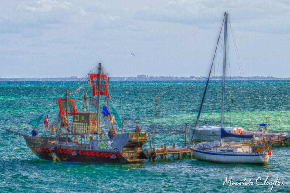 Photo in HDRI #pirates #ship #cancun #islamujeres