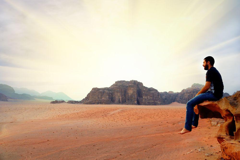 Photo in Landscape #nature #photographer #landscape #desert #wadi rum #hope #barajaber #rock #view #photo #photos #morning #sun #sunrise