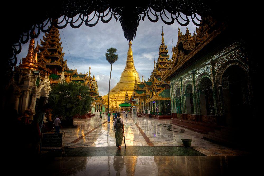 Photo in Travel #yangon #myanmar #golden #temple #stupa #burma #shwedagon paya temple #religion