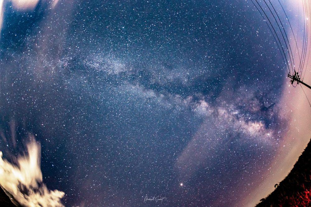 Photo in Landscape #round #milkyway #star #landscape #sky #iran #purple #blue #galaxy #night