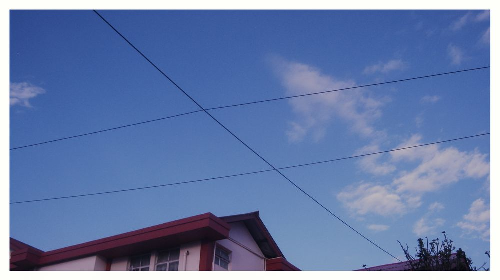 Photo in Architecture #low-angle view #wires #intersecting wires #intersection #neighbour #neighbor #neighbourhood #neighborhood