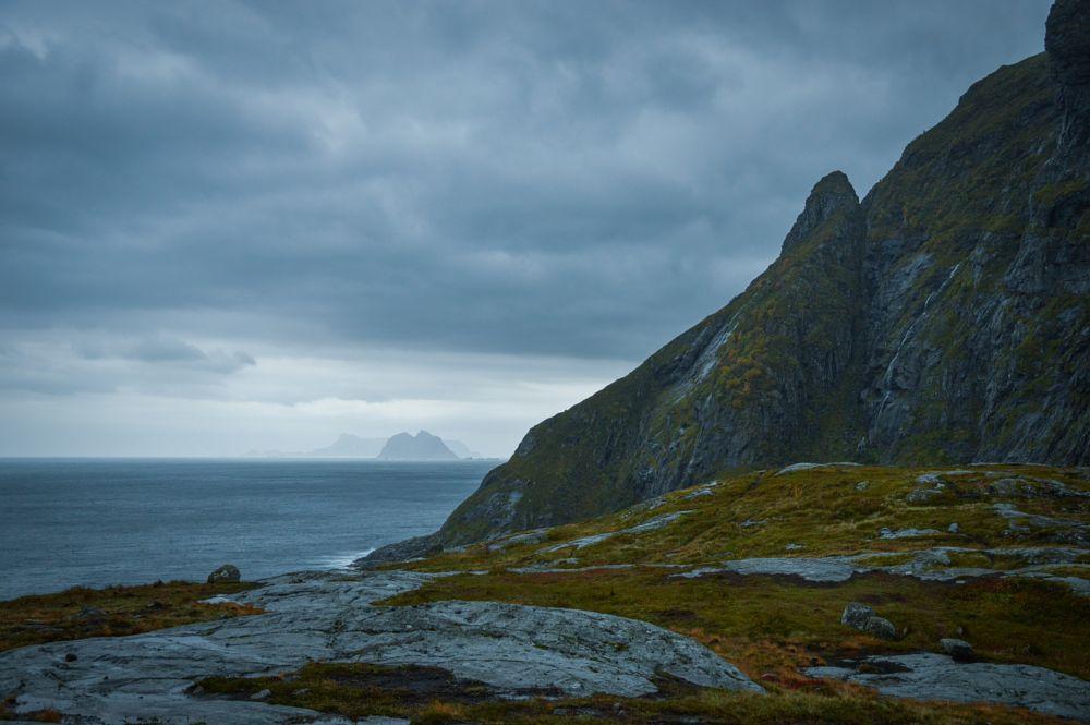 Photo in Landscape #coast #sea #island #storm #landscape #cliffs #lofoten #norway