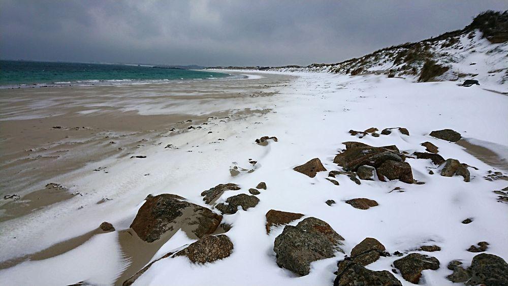 Photo in Landscape #beach #sand #snow #sea #landscape