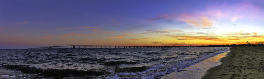 Photo in Landscape #chesapeake bay bridge #sunset #water
