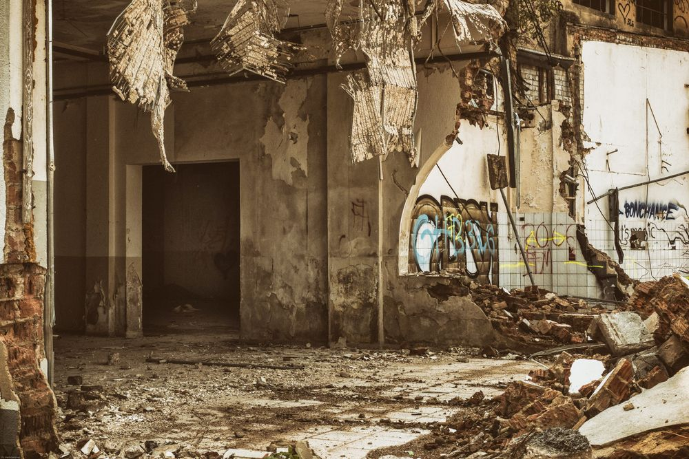 Photo in Architecture #status quo #ruin #herb garmsen #inventory #run down #up for demolition #urban #city #destruction #conscious #subconscious #rubble #graffiti #insight #old programming #past #joy #new beginnings shortly