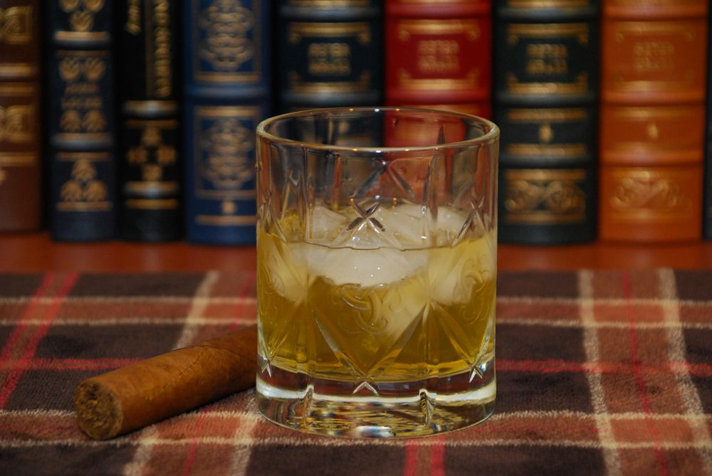 Scotch and a Cigar in the Study