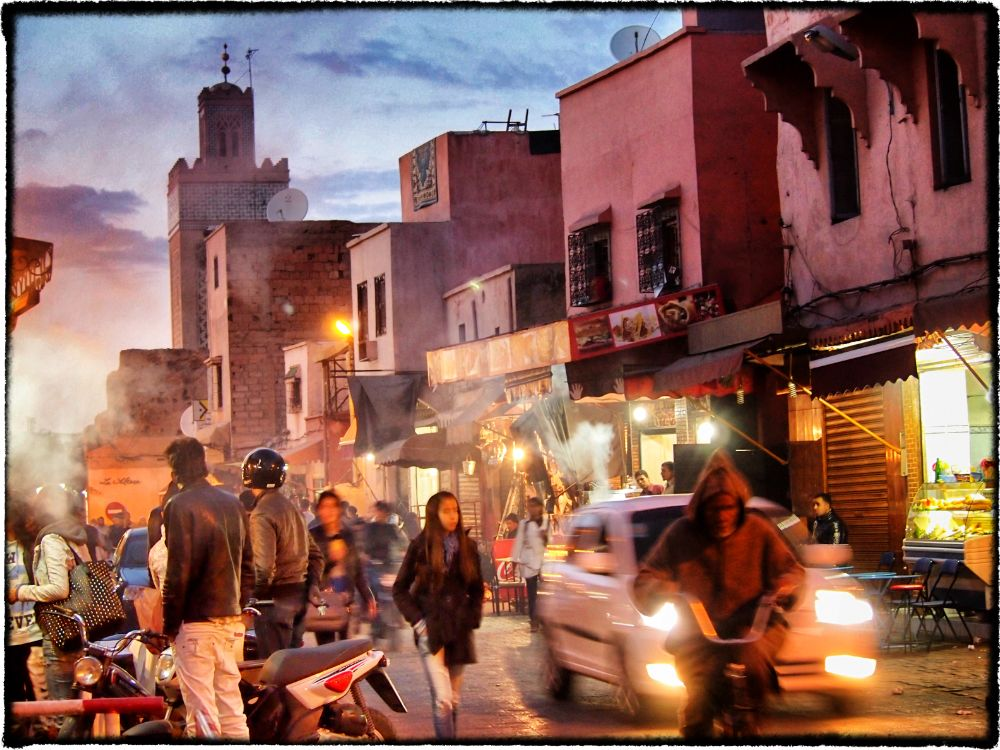 Photo in Cityscape #morocco #souk #market #people #evening