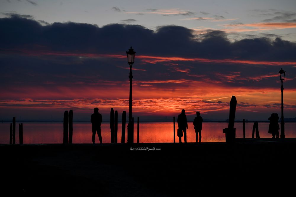 Photo in Landscape #burano #italy #venice #sea #sunset