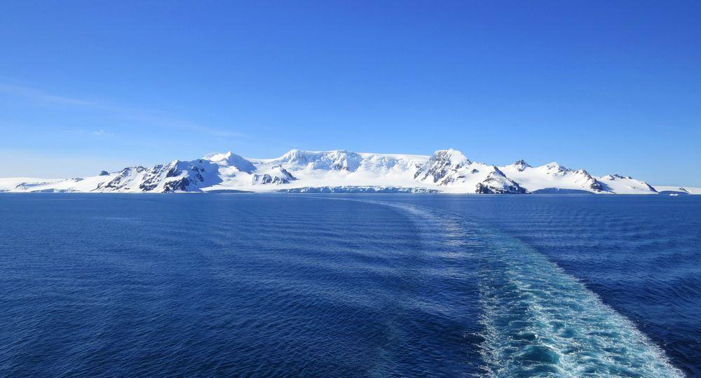 Photo in Landscape #antarctica #blue #south #cold #island #pure #white #mountains #danco #coast
