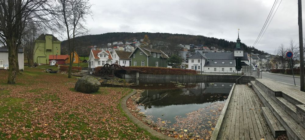 Photo in Cityscape #laksevaag #laksevåg #bergen #norway #fall #old buildings