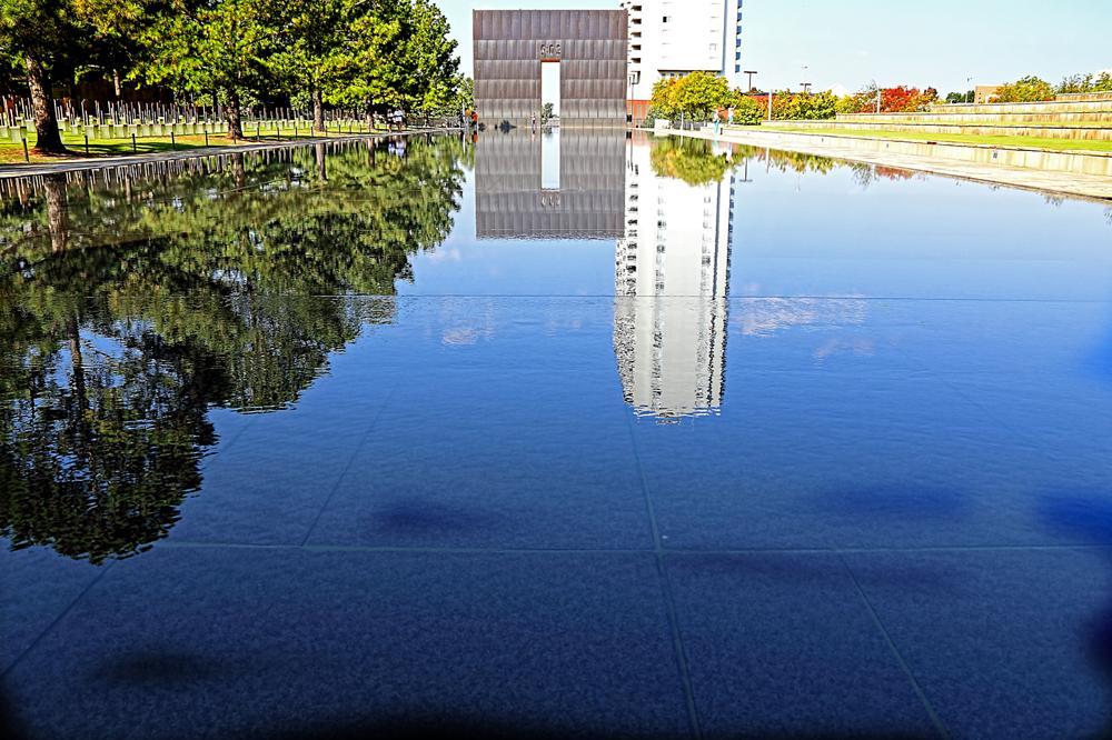 Photo in Travel #oklahoma city #memorial #reflecting #reflections