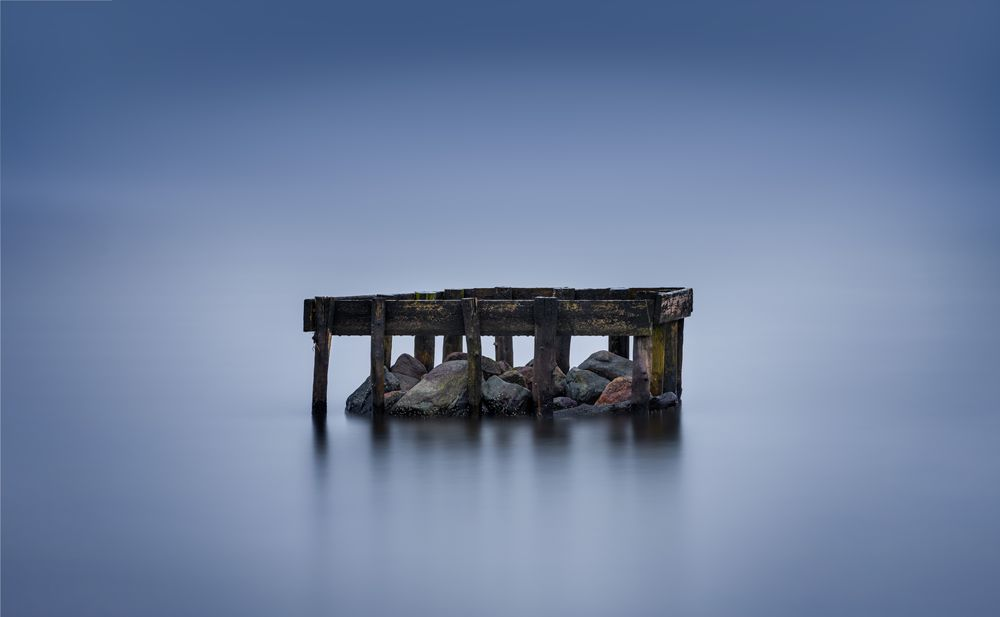 Photo in Random #long exposure #moody morning #dock