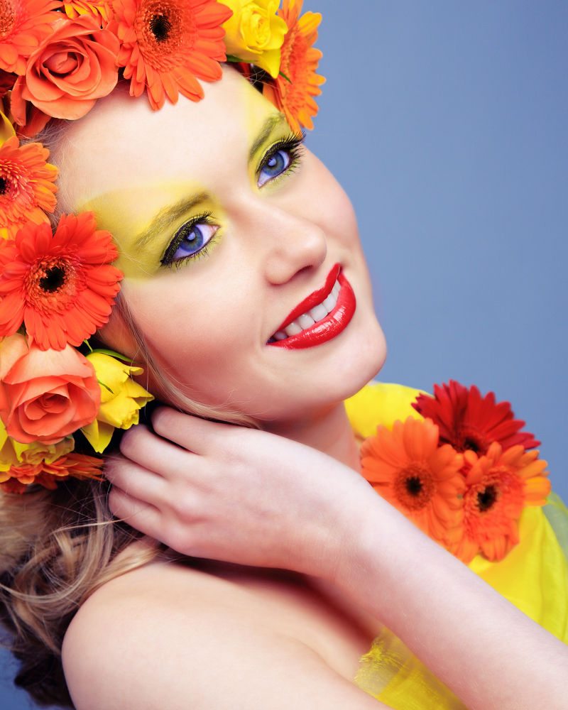 Photo in Fashion #fashion #floral #beauty #make-up #portrait