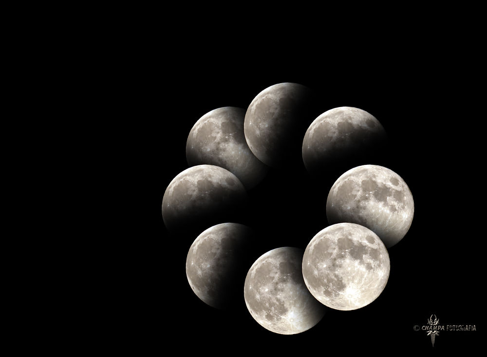 Photo in Astrophotography #ypa2013 #moon #moon phase #luna #luna llena #fase lunar