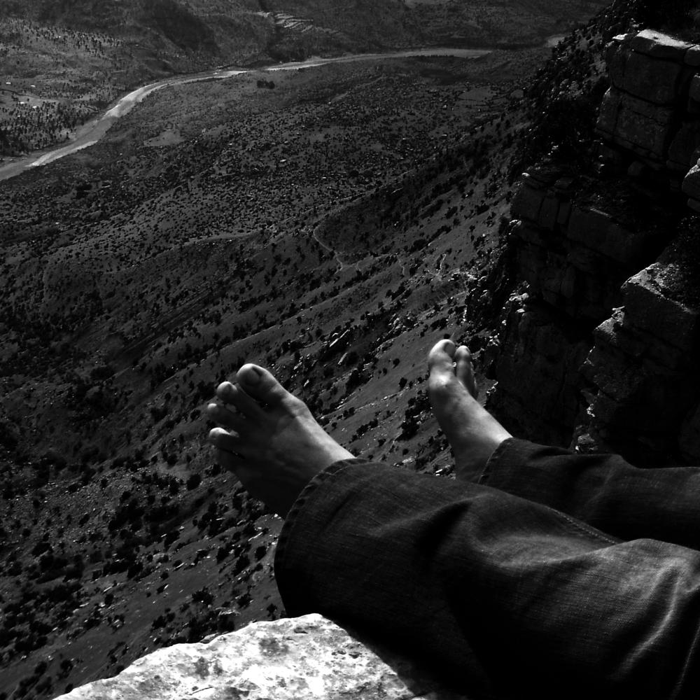Photo in Black and White #under #feet #landspace